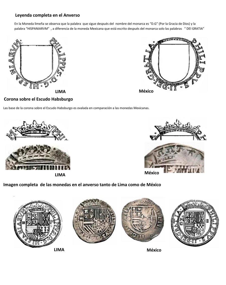 Diferencia Moneda escudo coronado lima mexico-2
