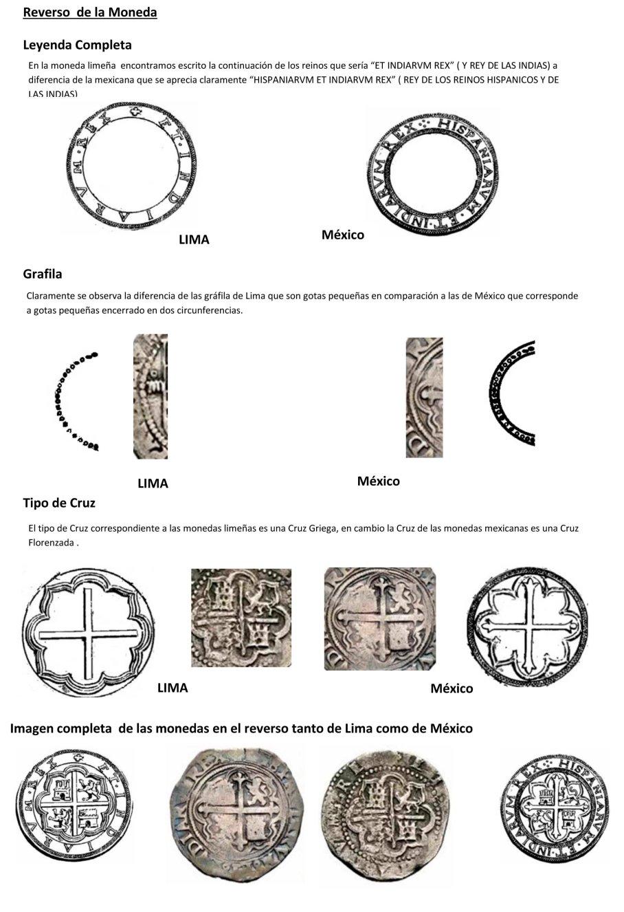 Diferencia Moneda escudo coronado lima mexico-3