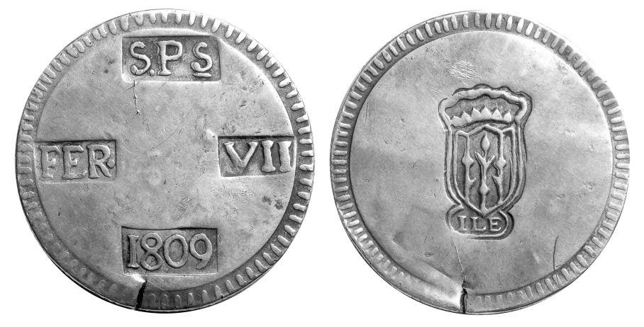 05 pesetas 1809 lerida bn