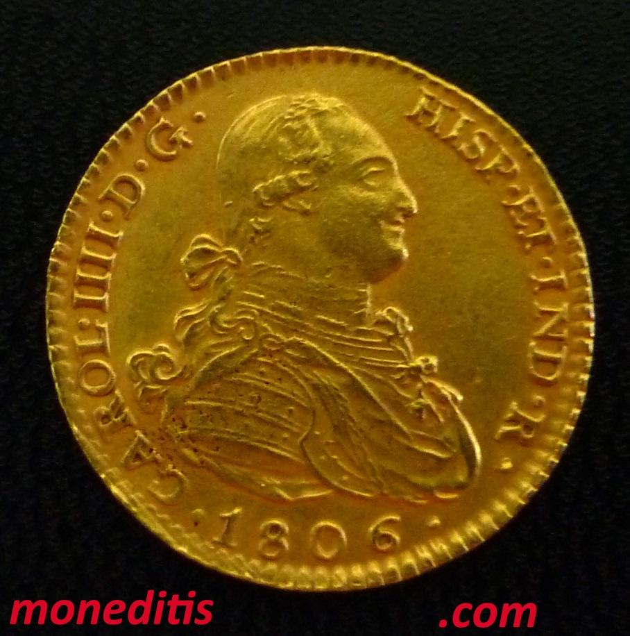 2 escudos Madrid 1806 Carlos IV FALSOS 3
