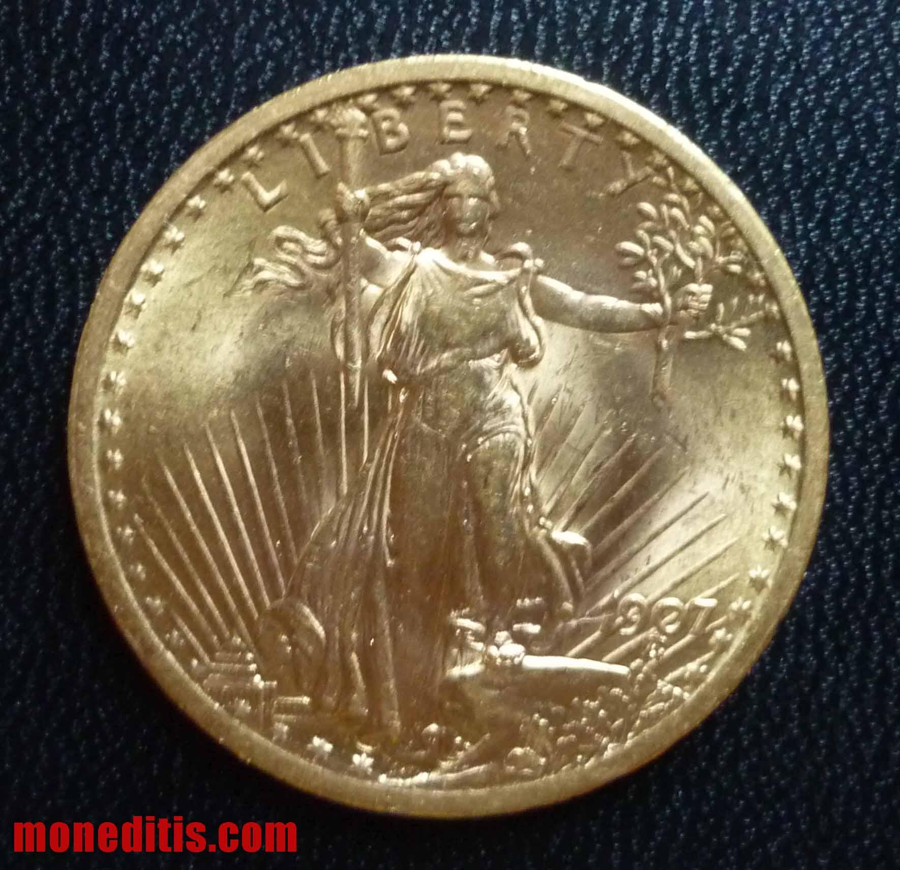 1907 20 $ double eagle St. Gaudens 18
